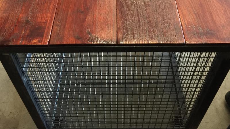 tafel op maat van staal en hout