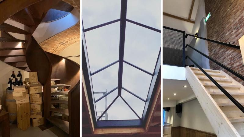 verschillende staalconstructies voor in huis door Mikkers special constructions